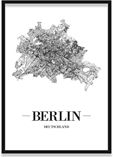 JUNIWORDS Stadtposter, Berlin, Wähle eine Größe, 40 x 60