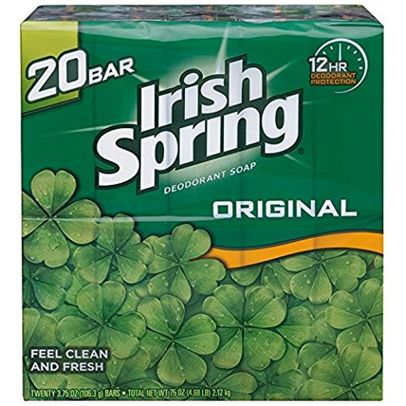相互接続スクラップ買い手Irish Spring アイリッシュスプリング オリジナル 固形石鹸 20個 海外直送