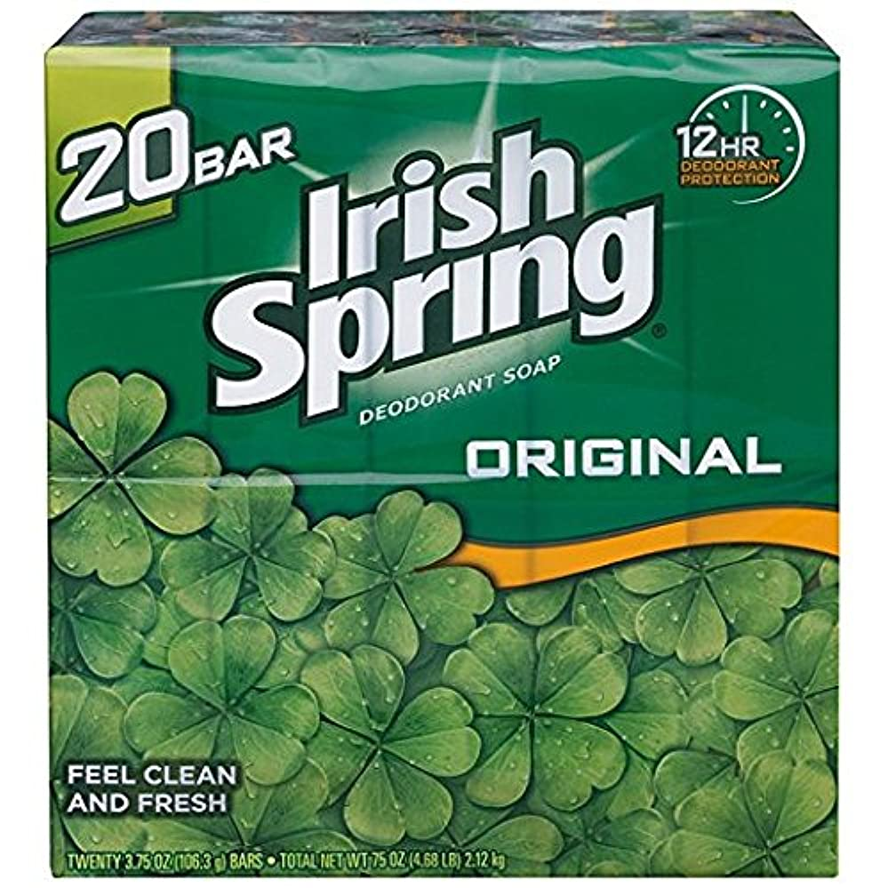 特徴清めるあなたが良くなりますIrish Spring アイリッシュスプリング オリジナル 固形石鹸 20個 海外直送