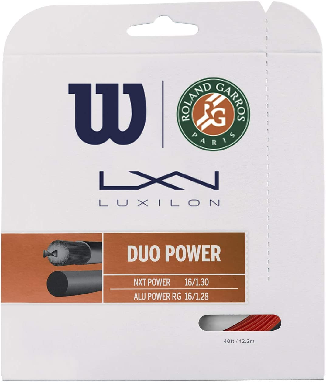 Wilson Unisex-Adult Duo Power Roland Strings Racket NEW before Free shipping / New selling ☆ Bron Garros