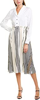 Womens A-Line Dress, XL, White
