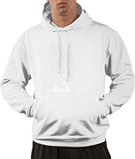 Mens Casual Style Hiking Pocket Sweater Printed with 6 Pray Hands OVO Drake Owl