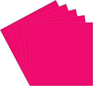 """5 Pink Oracal 651 Vinyl Sheets, 12x12"""" Pink Permanent Adhesive Backed Vinyl Sheets, Craft Vinyl Sheets for Indoor/Outdoor Lettering, Marking, Decorating, Car Decals, Window Graphics, For Craft Cutters"""