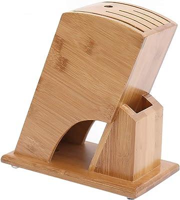 フェリモア 竹製 ナイフスタンド 包丁立て キッチン収納 木製 天然素材 取り出しやすい設計 (ナチュラルウッド)