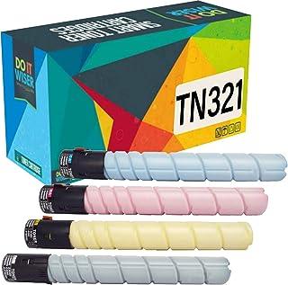Best Do it Wiser Compatible Toner Cartridge Replacement for TN321 Konica Minolta BizHub C224e C364e C284e C224 C284 C364 | TN321K TN321C TN321M TN321Y (4-Pack) Reviews