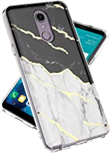 LG Stylo 4 Phone Case, LG Stylo 4 Plus Case, lovemecase Marble Design Clear Bumper TPU Soft Case Rubber Silicone Skin Cover for LG Stylo 4 /LG Q Stylus(White Black Marble)