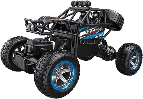 HUIGE RC 2.4HZ Elektrische Rock Crawler Radio Rennrad Fernsteuerungsautos für Kinder und Erwachsene,Blau