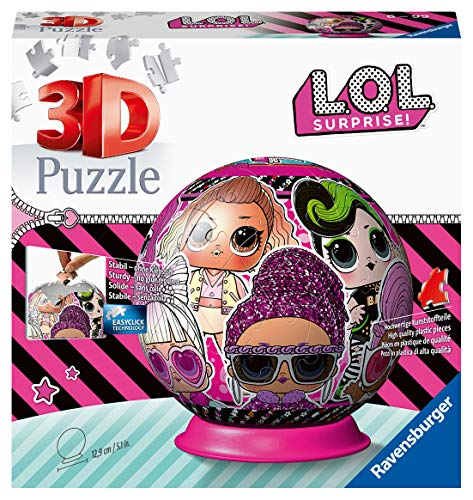Ravensburger LOL Surprise! - 72 piece 3D Jigsaw Puzzle Ball for Kids age 6 years and up