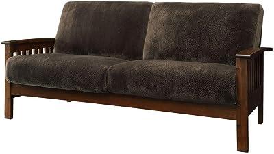 Amazon.com: Rivet Aiden Mid-Century Leather Sofa with ...
