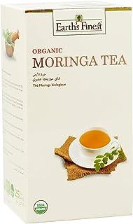 Earth's Finest Organic Moringa Tea - 25 Bags | Rich in Antioxidants, Caffeine & GMO-Free| Biodegradable Tea Bags