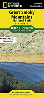 great smoky mountains topographic map