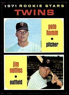 Baseball MLB 1971 Topps #74 Pete Hamm/Jim Nettles Twins Rookies NM-MT RC Rookie Twins