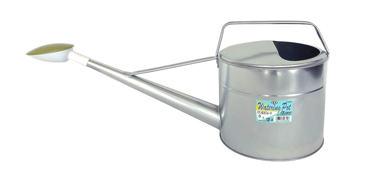 仲良し紀元前それによってセフティー3 じょうろ トタン散水ジョーロ 6L 水やり?園芸用 ブリキ製 奥行23.8×高さ20.8×幅61.1cm