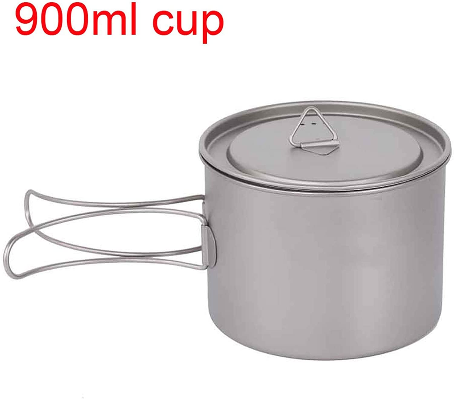 Camping Pots Pot Hanging Camping Portable Water Cup with Lid Foldable Handle Outdoor Picnic Cookware