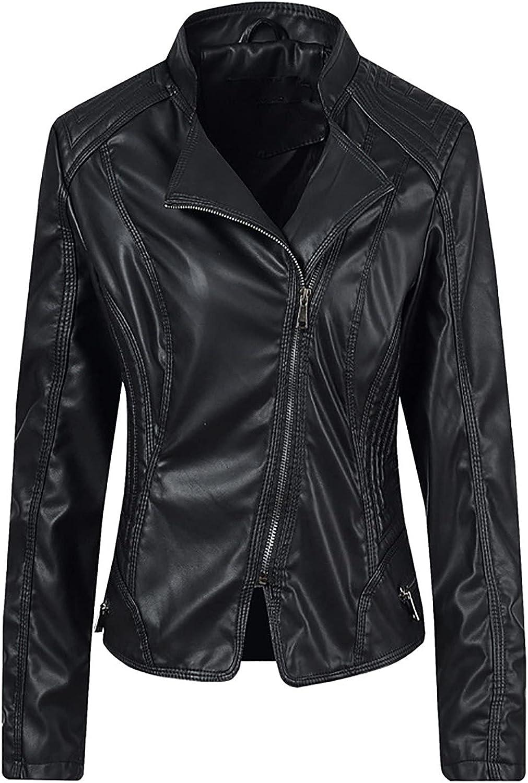 Aritone Women's Sweatshirt Button Slim Zipper Long Sleeve Bomber Jacket Warm Coat Leather Jacket
