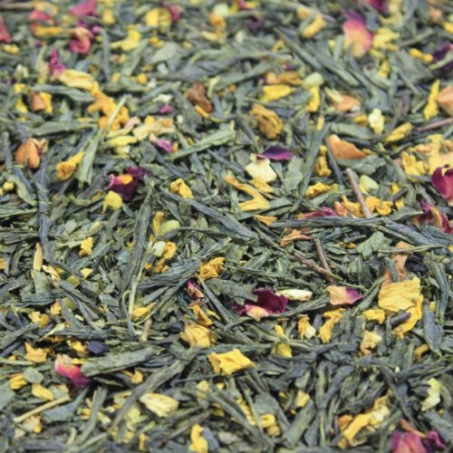 Grüner Tee lose Grüner Tee Sylter Wintergeschichten Sonnenblumen, Zimt Mandeln, Apfel, Orangen, Rosenblüten, Zimt Grüntee Vanille-Zimt 250g