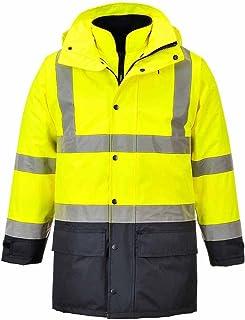 Portwest E040YERXXXL Hi-Vis Poly-cotton Jacket Yellow Regular 3X-Large