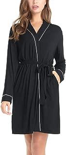 Amorbella Womens Soft Bamboo Robe Short Lightweight Bathrobe with Pockets