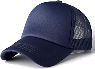 Unisex Cap Casual Plain Mesh Baseball Cap Adjustable Snapback Hats For Women Men Hip Hop Trucker Cap Streetwear Dad Hat