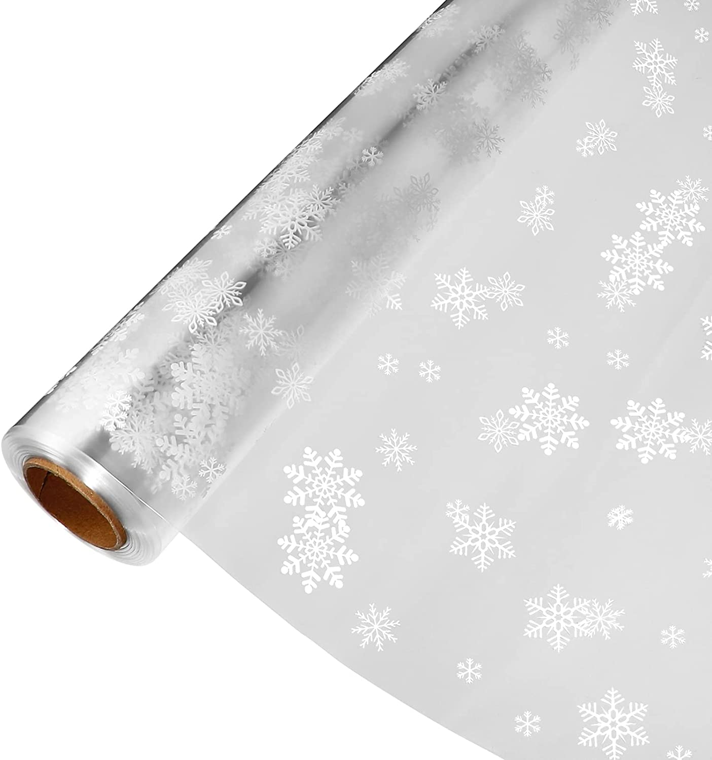 Toddmomy Christmas Cellophane Wrap Florist Roll security Snowflake Spasm price Paper