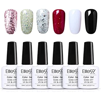 Elite99 Esmaltes Semipermanentes de Uñas en Gel UV LED, 6pcs Kit de Esmaltes de Uñas 10ml 012: Amazon.es: Belleza