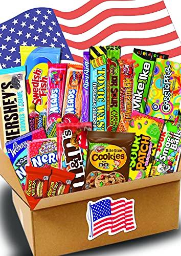 JUMBO USA Süßigkeiten Box - USA Sweets - 21 verschiedene Leckereien - Perfekte Geschenkidee - Box voller TOP Bestseller - 21-teilige Box - USA Import