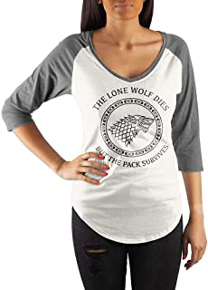 Game of Thrones House Stark Crew-Neck Raglan T-Shirt