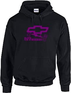 Chevy Offroading Hoodie | Chevrolet Fan Hooded Sweatshirt Purple Design | Womens