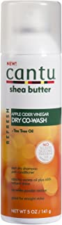 Cantu Refresh Dry Co-wash with Apple Cider Vinegar and Tea Tree Oil, 5 Ounce (Pack of 3)