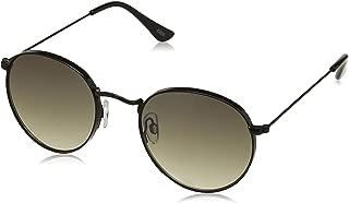 IDEE Gradient Round Unisex Sunglasses - (IDS2435C1SG 52 Green Gradient FM Color Lens)