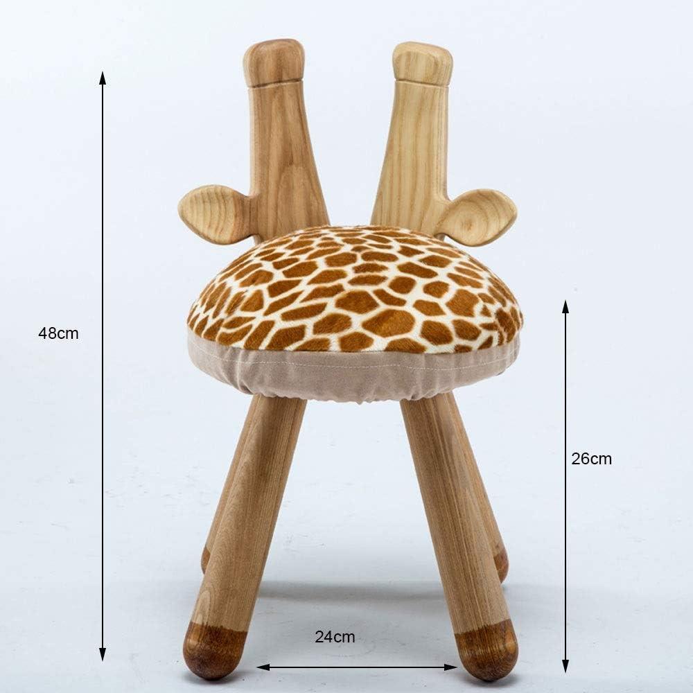 YUMUO Tabourets en Bois Massif Repose-Pieds Tissu Créatif Repose Pieds Tabouret Ainimal pour Salon F1220 (Couleur: Lapin) 1