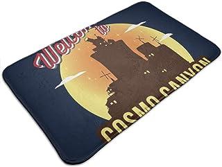 Huttgh - Felpudo antideslizante para puerta de entrada de Cosmo Canyon, alfombra de baño de cocina (19,5 x 31,5 pulgadas)