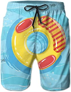 Mens Van Goghs Starry Sky Oil Painting Breathable Beach Board Shorts Swim Trunks Quick Dry