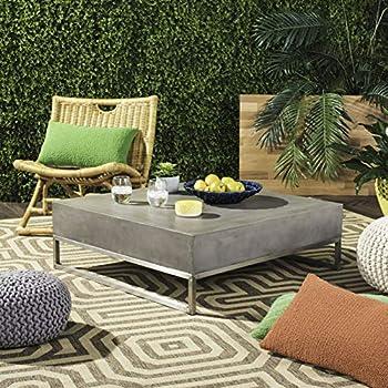 Safavieh Eartha Outdoor Concrete Square Coffee Table