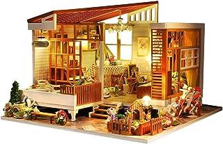 XYZMDJ miniatyr-GDS trä dockhus modellbyggnad, GDS hatt ornament dekoration, kreativ för barn och spädbarn