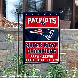 WinCraft New England Patriots Six Time Super Bowl Champions Garden Flag