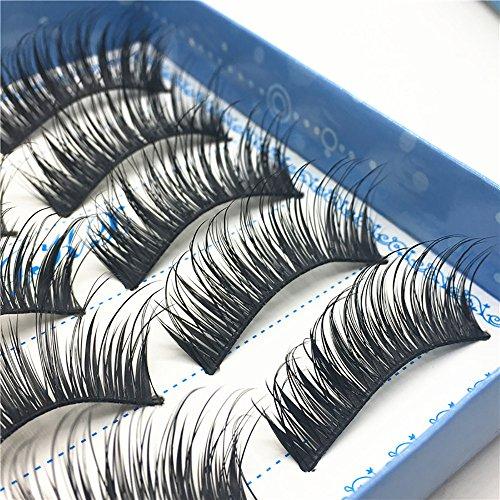 Falsche Wimpern Der Langen Wimpernart 5 Paare1 Box 3D False Lashes Fluffy Strip Eyelashes Long Natural Party Familie Verwenden Sie Make-Up Steigern Den Charme illimitable (Schwarz)