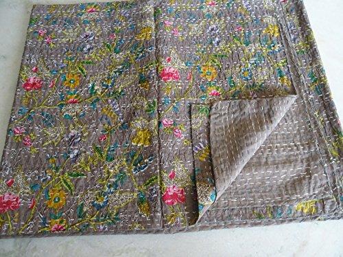 Tribal Asian Textiles Couvre-lit Patchwork à Motifs Multicolores Style bohème 2,75 x 2,30 m