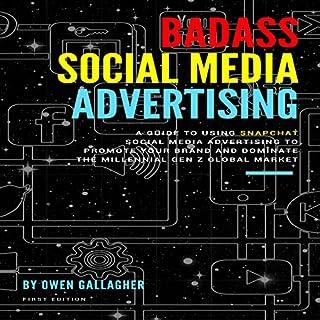 Badass Social Media Advertising audiobook cover art