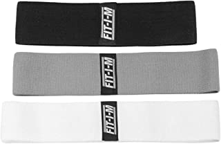 FIT-I-M Fabric Exercise Resistance Bands for Legs, Butt, Hip, Glute Workout. Booty Band Set of 3 for Booty and Leg Shaping. Low - Medium - Heavy Resistance