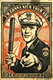 SATIRICAL RETRO COP POSTER WITH BILLY CLUB POSTER colorful in uniform 24X36