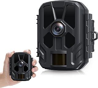 Mini Wildlife Camera 14MP 1080P Trail Camera Night Vision Up to 50ft Hunting Cam Wildlife Garden Camera IP56 Waterproof fo...