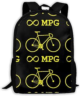 High-Capacity Unisex Adult Backpack Bike Infinity Mpg Bicycle Cycling Bookbag Travel Bag Schoolbags Laptop Bag