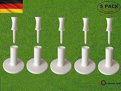 FINGER TEN Golf Tees Gummi Kunststoff Driving Range Wert 3 Pack /5Pack für Innen Draussen Übungsmatten, Tees Größe 1.5