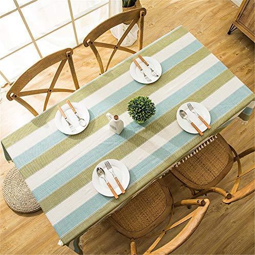 QI Nappe Ronde en Polyester pour Cuisine, Restaurant, fête, étanche, intérieur ou extérieur, G, 140x180cm