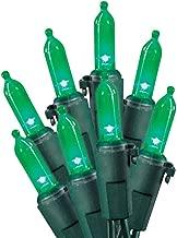 Celebrations 40845-71 LED Traditional Mini Light Set, 100 Green Lights