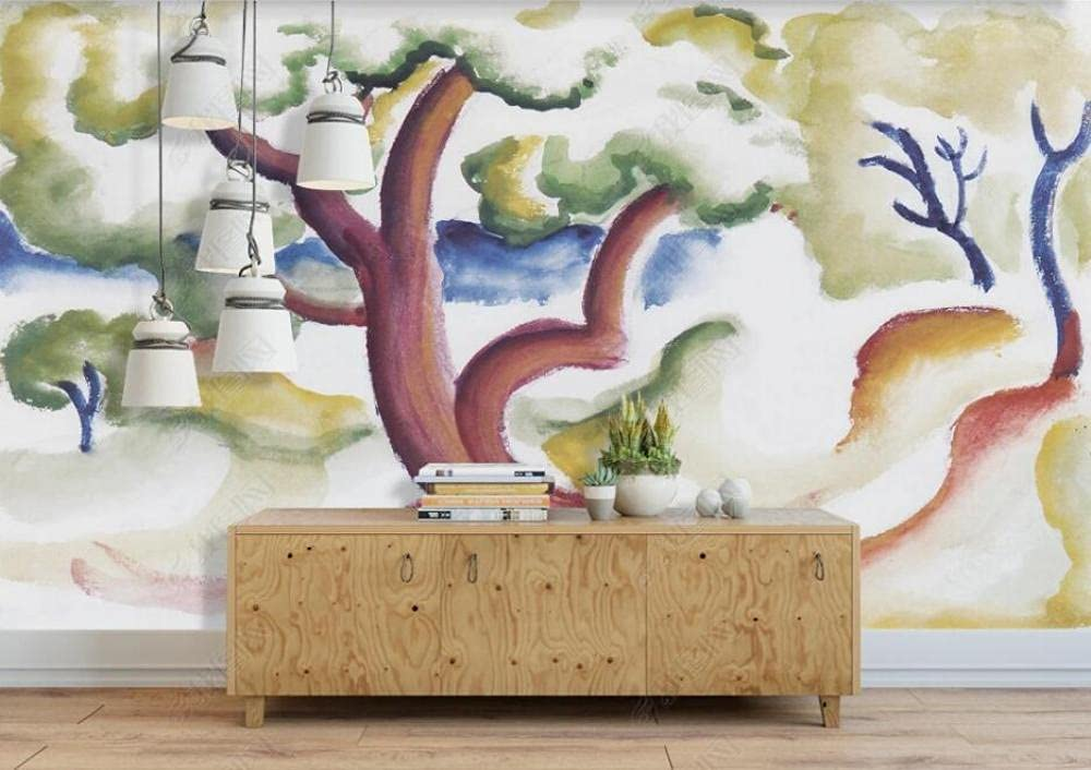 Ranking integrated 1st place Wall Murals Wallpaper Hand Painted Wallc Forest Our shop OFFers the best service Woods Mural