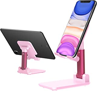 Cell Phone Stand,Tablet Holder Stand, Height Angle Adjustable Desktop Cell Phone Stand Aluminum Compatible with iPhone 11 ...