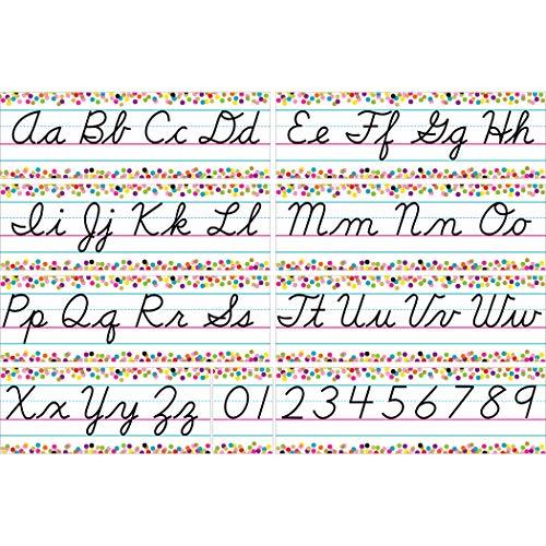 Confetti Cursive Writing Bulletin Board