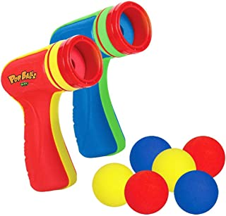 Zing Pop Ballz 2 pack (Sustainable Packaging) - Air Powered Shooter Toy Guns Shooting Games, Great for Family or Outdoor C...